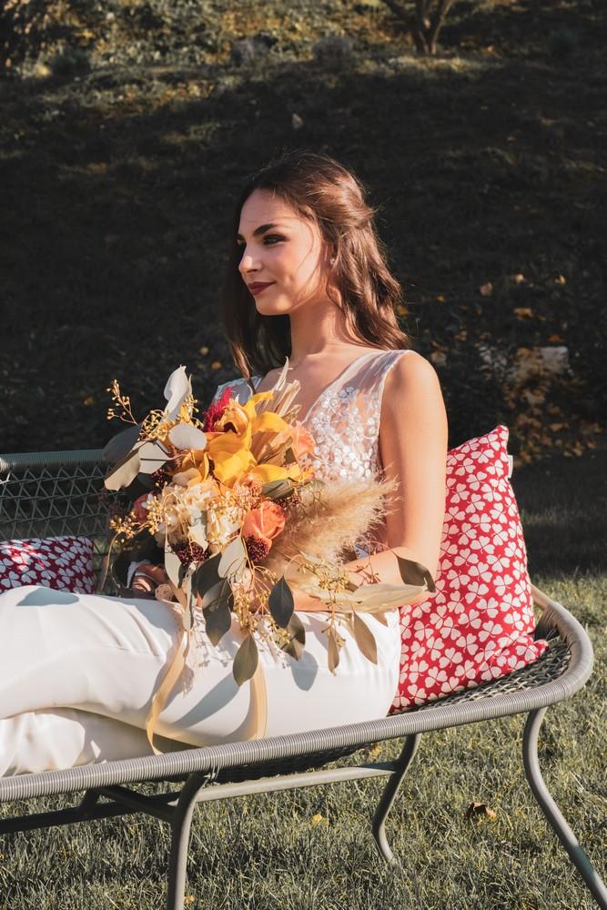 joli bouquet de fleurs de mariage